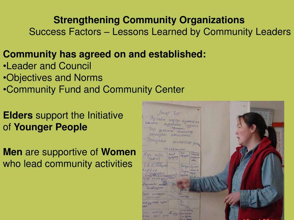Strengthening Community Organizations