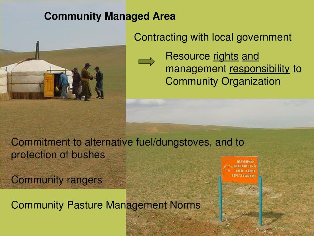 Community Managed Area