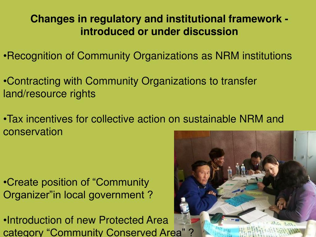 Changes in regulatory and institutional framework -  introduced or under discussion