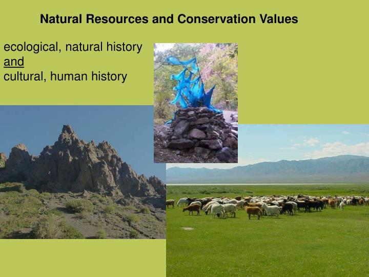 Natural Resources and Conservation Values