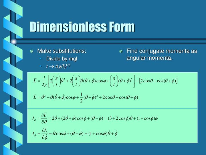 Dimensionless form