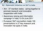 eu diplomatic initiatives on s t in india