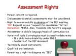 assessment rights