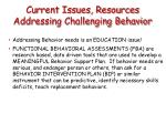 current issues resources addressing challenging behavior