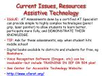 current issues resources assistive technology
