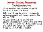 current issues resources individualization