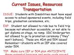 current issues resources transportation