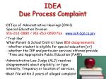 idea due process complaint