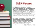 idea purpose