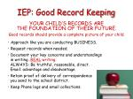 iep good record keeping