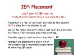 iep placement