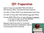 iep preparation