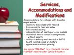 services accommodations and modifications