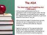 the ada the americans with disabilities act 1990 cont