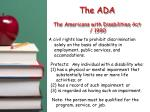 the ada the americans with disabilities act 1990