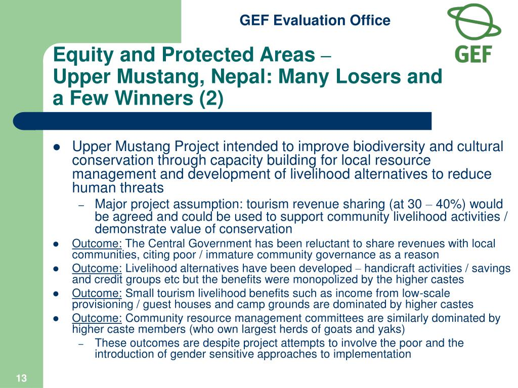 Equity and Protected Areas
