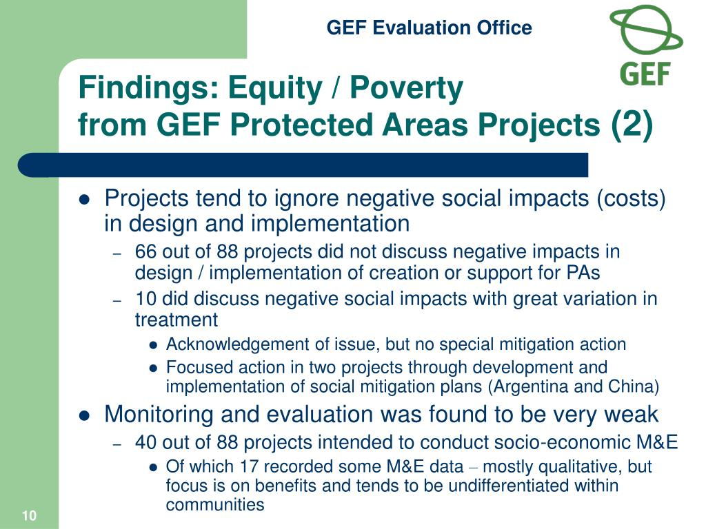 Findings: Equity / Poverty