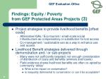 findings equity poverty from gef protected areas projects 3