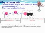 why mixtures mix