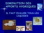 diminution des apports hydriques1