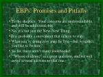 ebps promises and pitfalls1