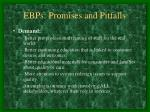 ebps promises and pitfalls16