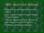 ebps special rural challenges1