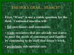 the holy grail search
