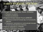 early warning systems1