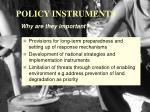 policy instruments