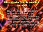 alien invader films in the cold war era