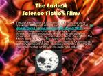 the earliest science fiction films