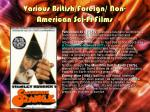 various british foreign non american sci fi films