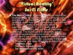 virtual reality sci fi films1