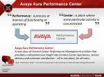 avaya aura performance center