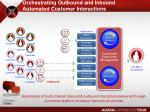 orchestrating outbound and inbound automated customer interactions