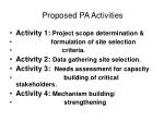proposed pa activities