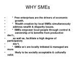 why smes