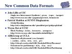 new common data formats