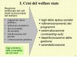 i crisi del welfare state