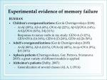 experimental evidence of memory failure1