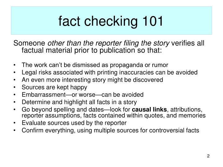 Fact checking 101
