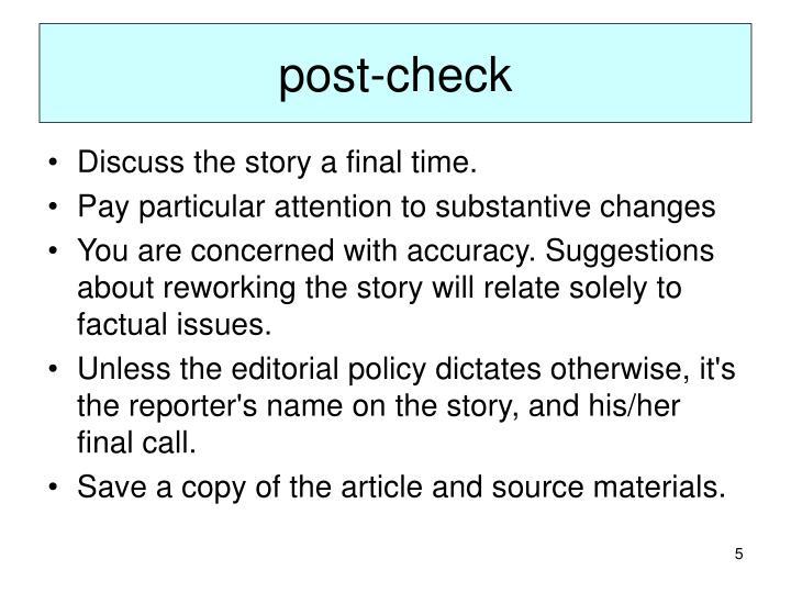 post-check