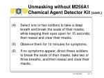 unmasking without m256a1 chemical agent detector kit cont