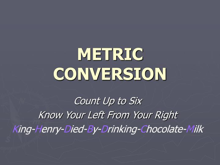 metric conversion n.