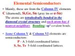 elemental semiconductors