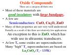 oxide compounds these are a category all their own