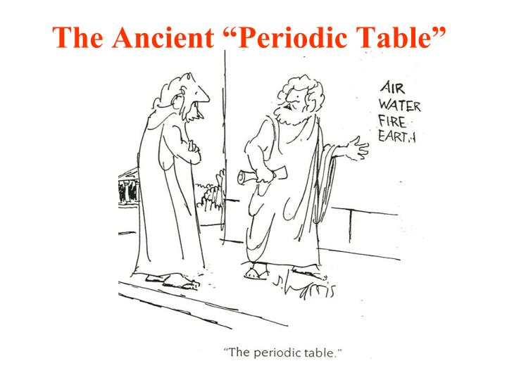 the ancient periodic table n.