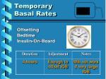 temporary basal rates9