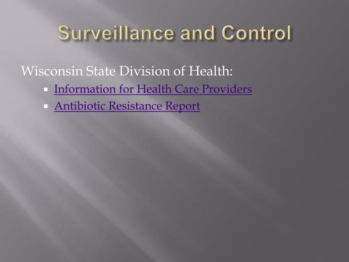 Surveillance and Control